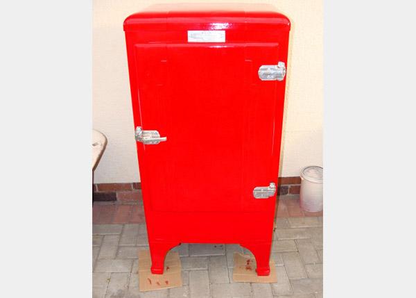 completed fridge respray